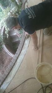 bies visgraatvloer plaatsen in ronde ruimte