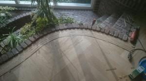visgraat vloer met ronde bies