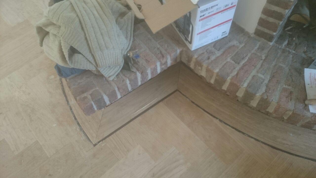 Goedkope houten vloer visgraat