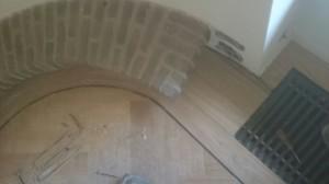 visgraatvloer bij radiatorpunt