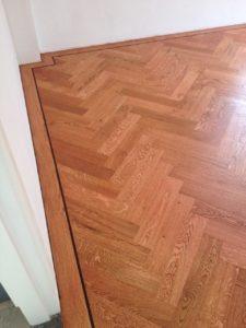 Herringbone parquet floor