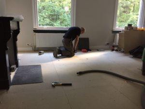 legwerk ondervloer visgraat vloer