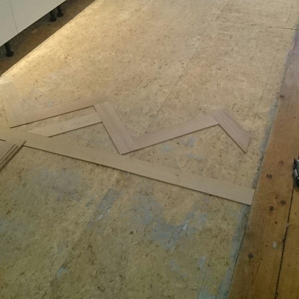 Visgraat vloer Amsterdam