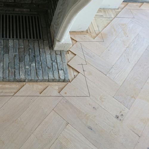 Visgraat vloer Driebergen