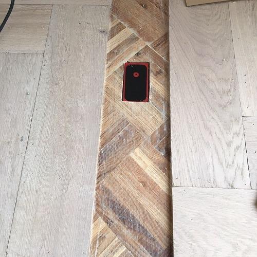 Visgraatvloer met vloerverwarming