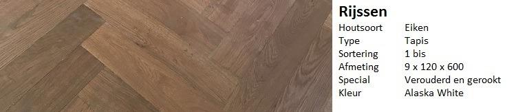 Traditionele visgraat vloer