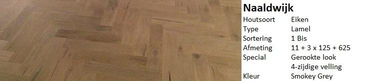 Gerookte visgraat vloer Naaldwijk