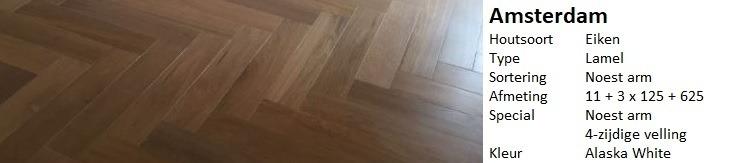 Moderne visgraat vloer Amsterdam